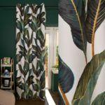 zasłona w liście palmy Edison urban jungle