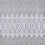Firana haftowana po całości ornament wzór zbliżenie