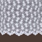 Biała firana haftowana grecki tiul